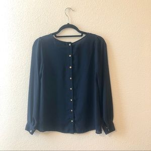 Forever 21 Blue Button Down Long Sleeve